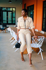 Load image into Gallery viewer, Khaki Let's Chill | Jogger Set