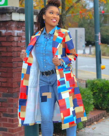 Fashy Print Trench | Coat