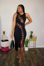Load image into Gallery viewer, Diana Lace Up | Sleeveless Dress