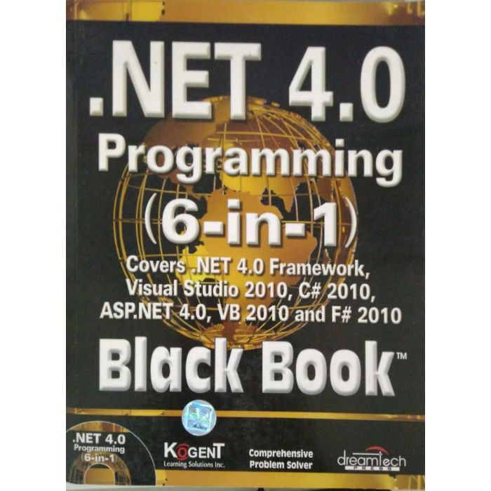 .NET 4.0 Programming (6-in-1) Black Book Paperback – 2011 - BooksKart