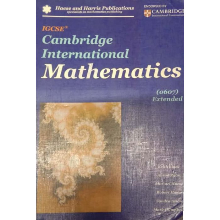 Cambridge IGCSE International Mathematics (0607) Extended - BooksKart