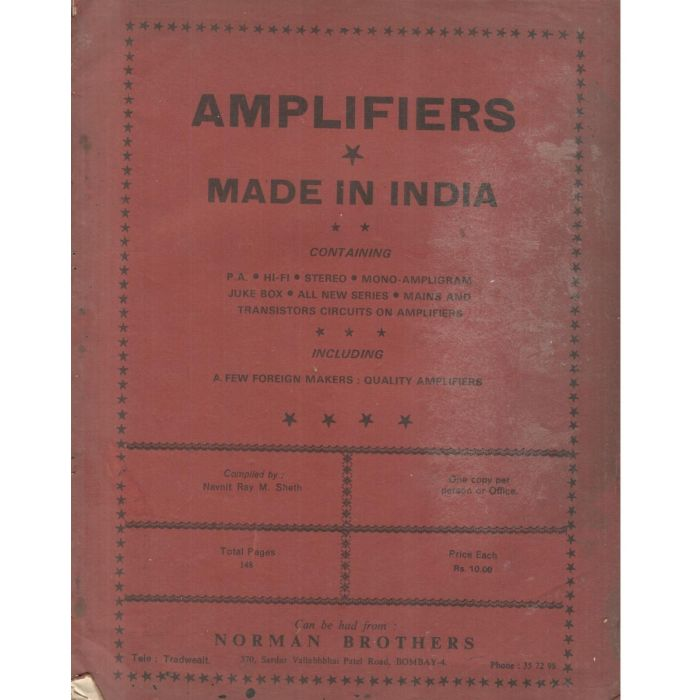 AMPLIFIERS By Normon Brother - BooksKart