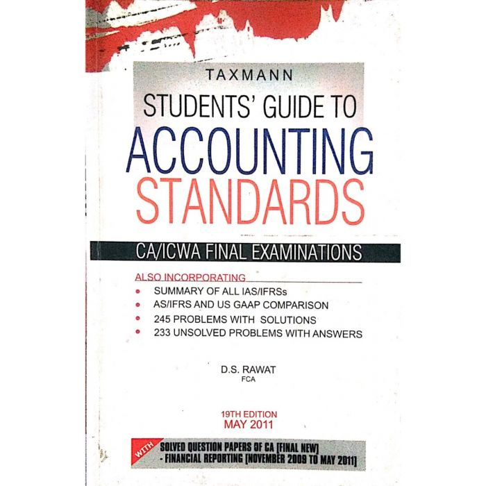 TAXMANN | Student Guide to Accounting Standard - BooksKart