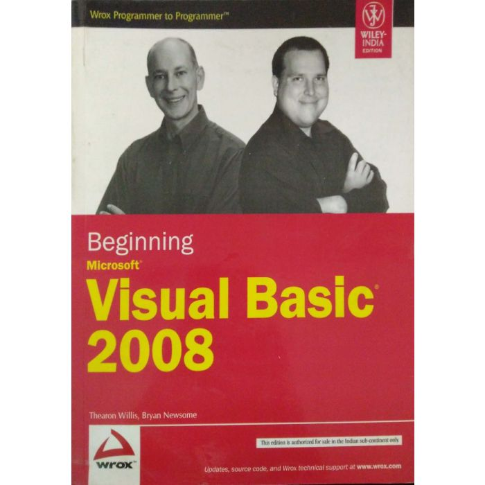 Beginning Microsoft Visual Basic 2008 1st Edition - BooksKart