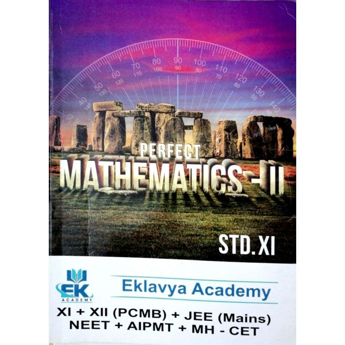 Perfect Mathematics - 2 for Std 11 (Science) Eklavya Academy - BooksKart