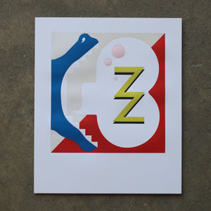 Math Bass, Newz!, Letterpress Print