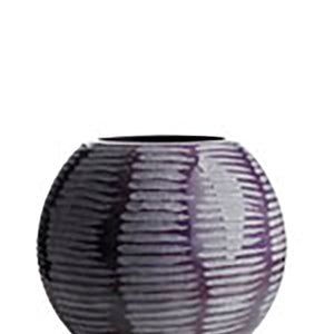 -x01 Vase with engravings, glass, opal purple, dia. 21cm H20