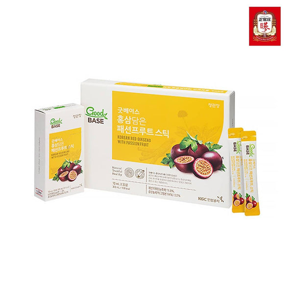 GoodBASE Passion Fruit Stick With Kr. Red Ginseng