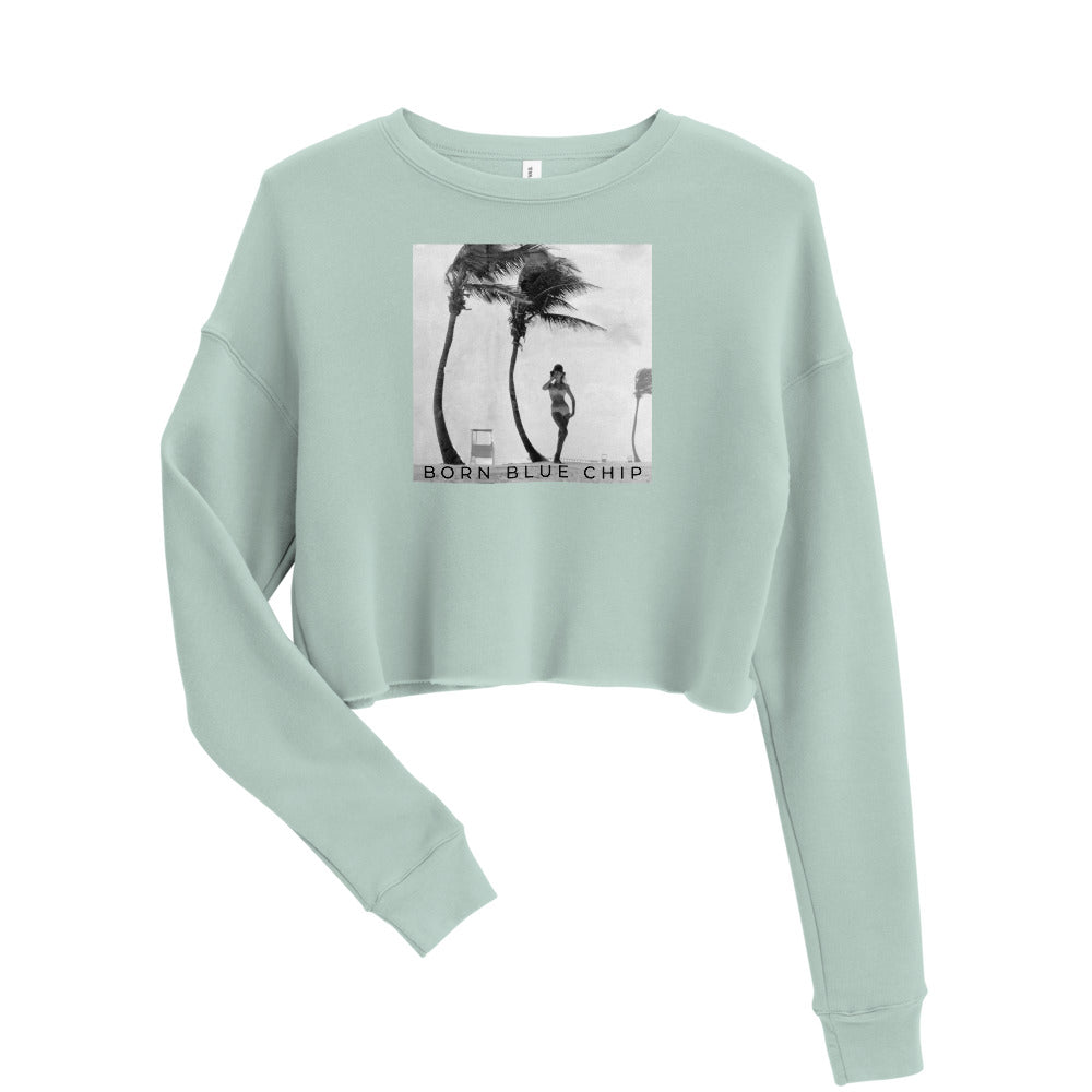 BORN BLUE CHIP - PALMS | CROPPED SWEATSHIRT