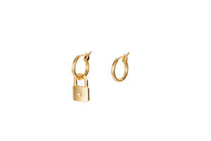 Star Lock Dangle Earrings