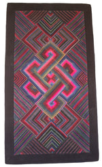 Load image into Gallery viewer, 'Double Endless Knot in Pink', Tibetan Wall-hanging Art