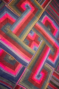 'Double Endless Knot in Pink', Tibetan Wall-hanging Art