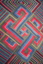 Load image into Gallery viewer, 'Double Endless Knot in Pink & Green', Tibetan Wall-hanging Art