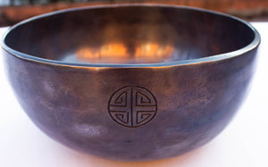 'Zen Bowl', black - Handmade Singing Bowl