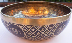 'Om', Himalayan Art - Handmade Singing Bowl