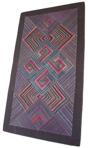 'Double Endless Knot in Blue', Tibetan Wall-hanging Art