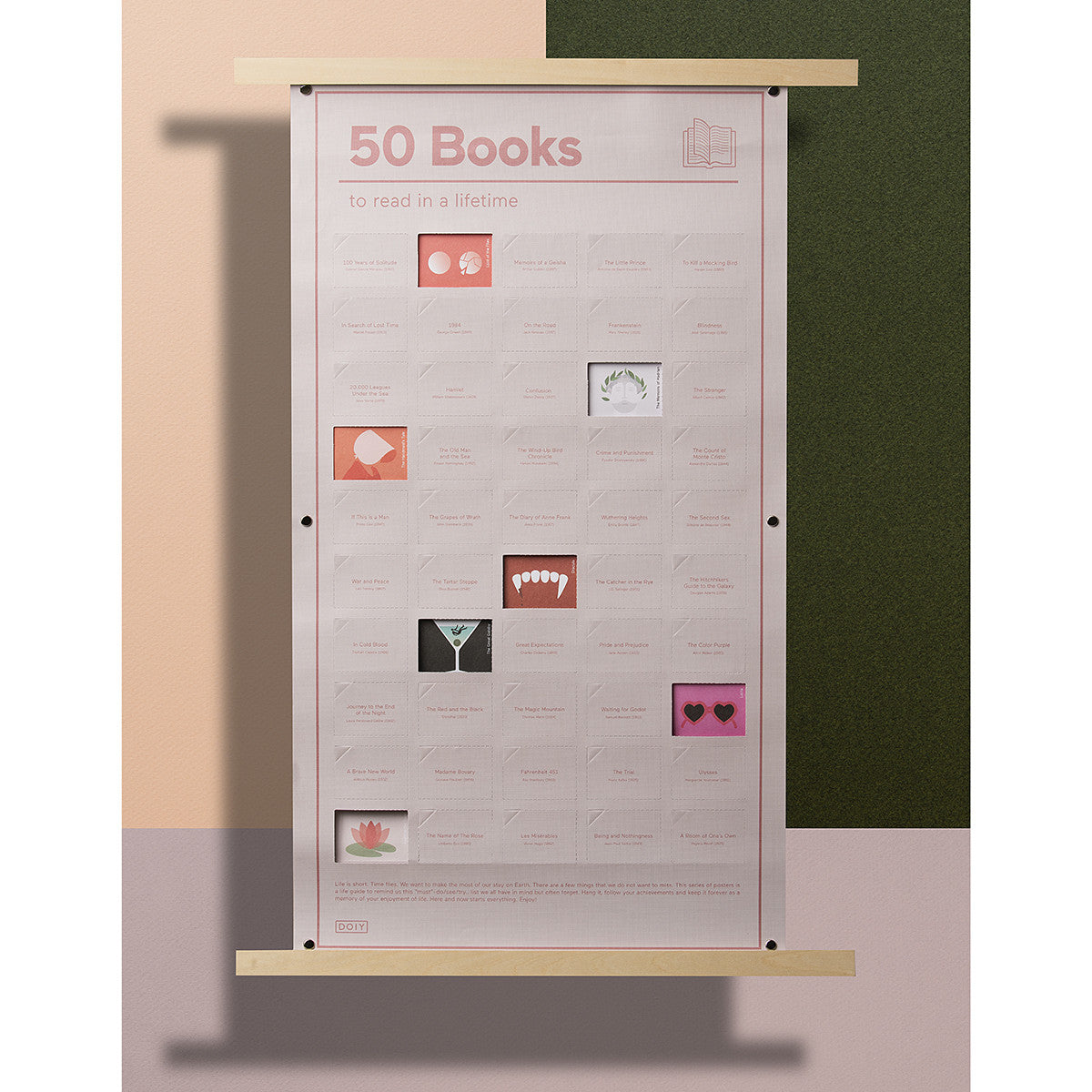 DOIY 50 Books To Read In A Lifetime Poster