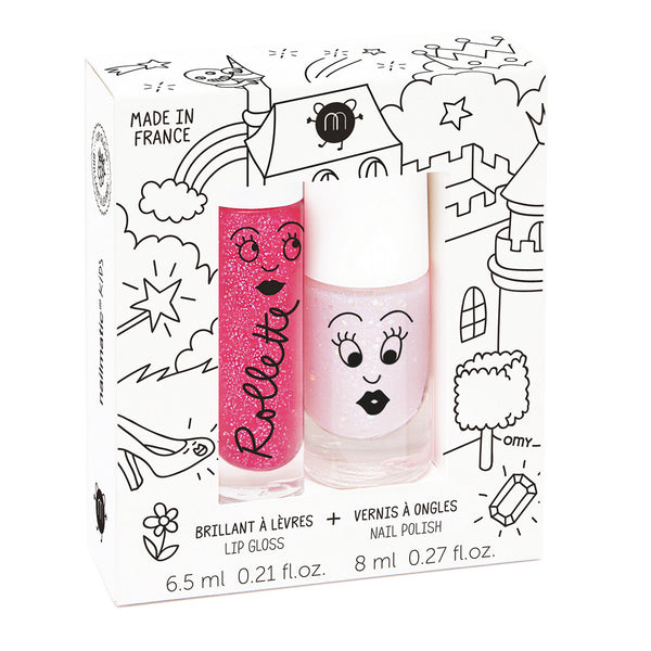 Kids Lip Gloss & Nail Polish Gift Pack (2pcs) Nailmatic