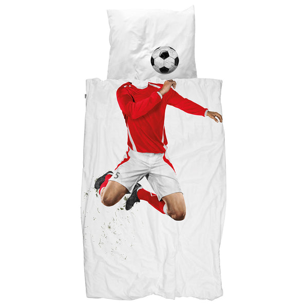 Quilt Cover Set Soccer Champ Red Snurk