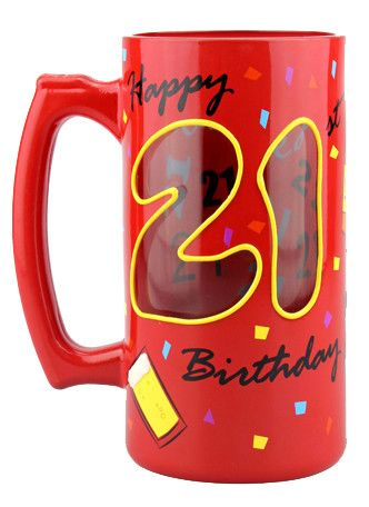 21st Birthday Stein Tankard by Top Shelf - Australian Gifts Online