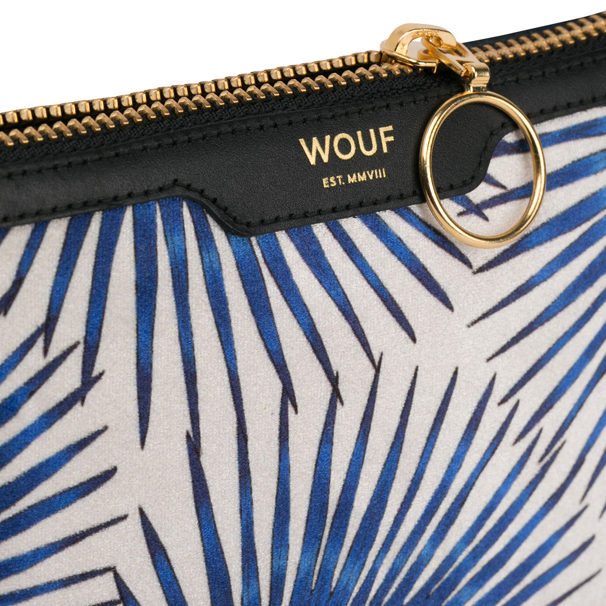 Pocket Clutch Blue Palms Wouf