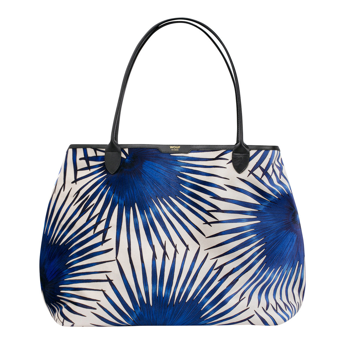Tote Bag Blue Palms Wouf