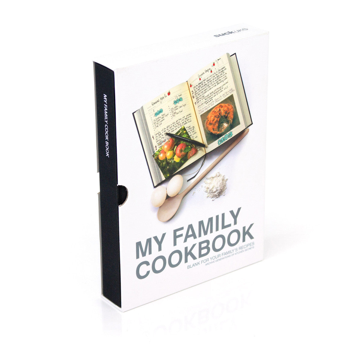 Suck UK My Family Cookbook Recipe Journal