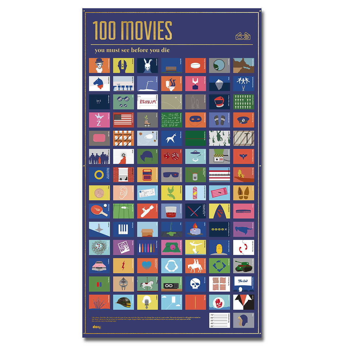 DOIY 100 Movies You Must Watch Before You Die Poster