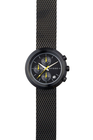 HYGGE Watch  2312 Chronograph Series Metal Strap Black/Black - Australian Gifts Online - 1