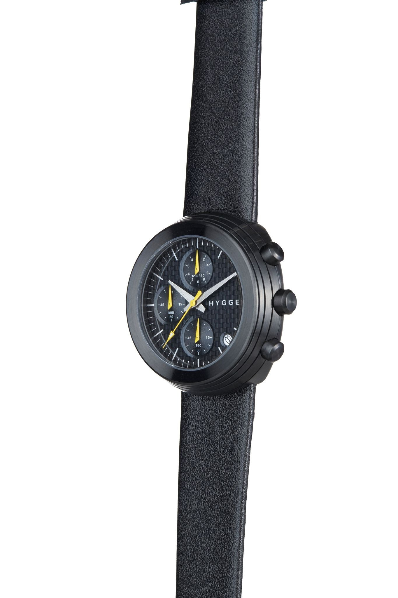 HYGGE Watch  2312 Chronograph Series Leather Strap Black/Black - Australian Gifts Online - 2