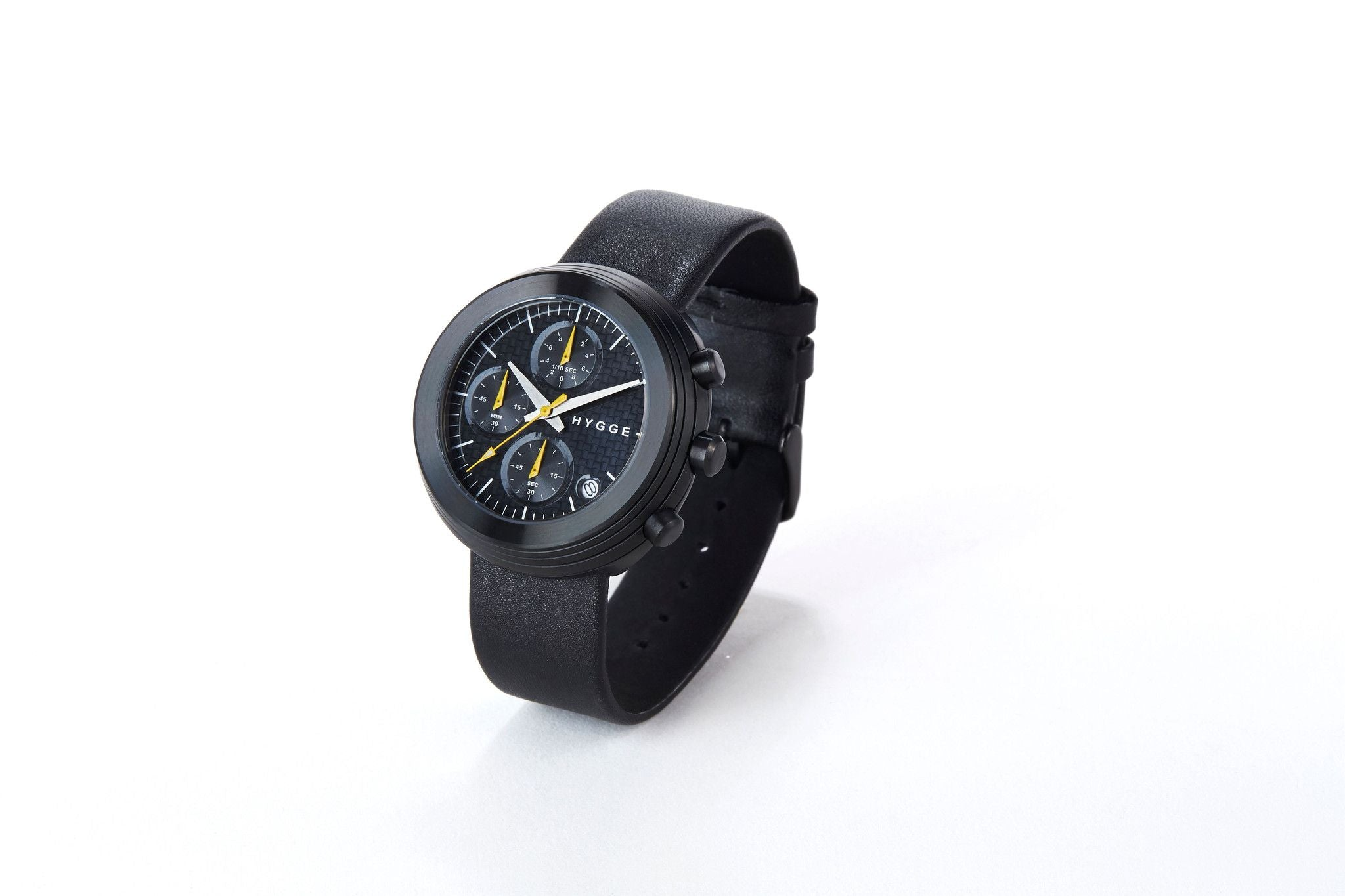 HYGGE Watch  2312 Chronograph Series Leather Strap Black/Black - Australian Gifts Online - 3