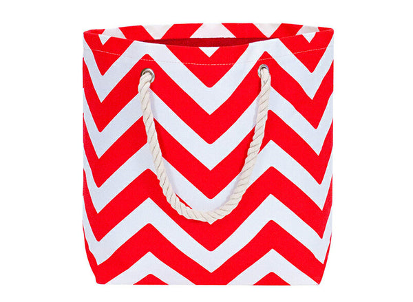 Travel Tote Bag Chevron Red - Australian Gifts Online