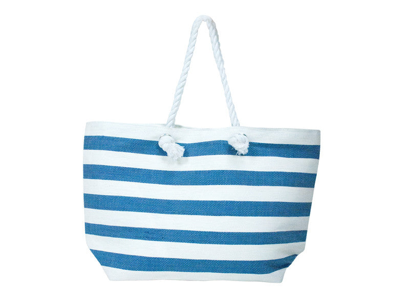 Striped Tote Blue Beach Bag - Australian Gifts Online