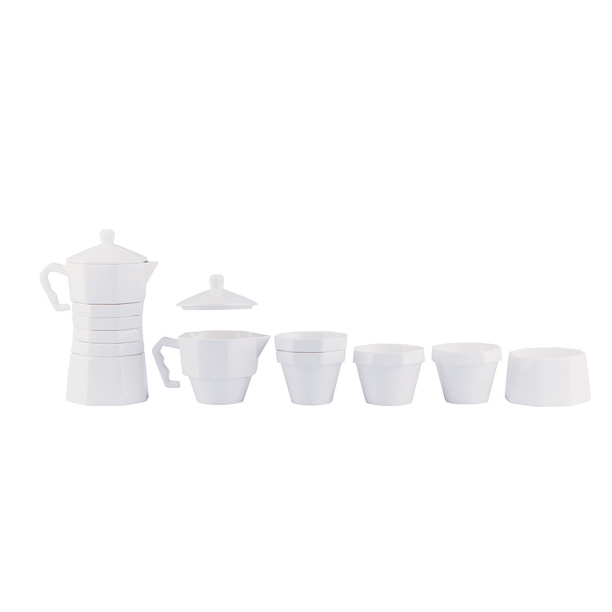 DOIY With Coffee Porcelain Coffee Set