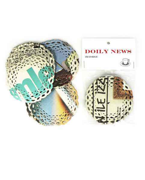 Doily News - Newspaper Coaster 100 Pack Set - Australian Gifts Online - 1
