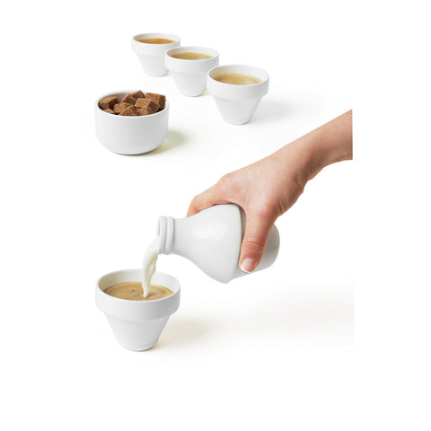 DOIY With Milk Stackable Tea Set