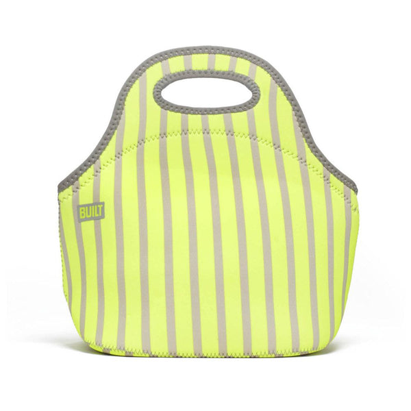 Built NY Neon Stripe Lime Gourmet Getaway Lunch Tote - Australian Gifts Online