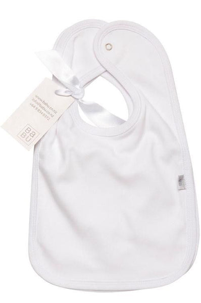 Babu Organic Cotton Bib Set 2 Pack (White) - Australian Gifts Online - 1