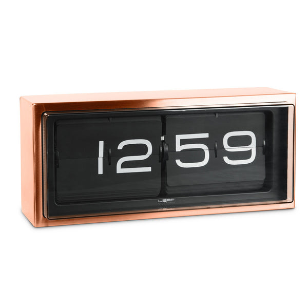 LEFF Amsterdam Brick 24hr Copper Flip Clock