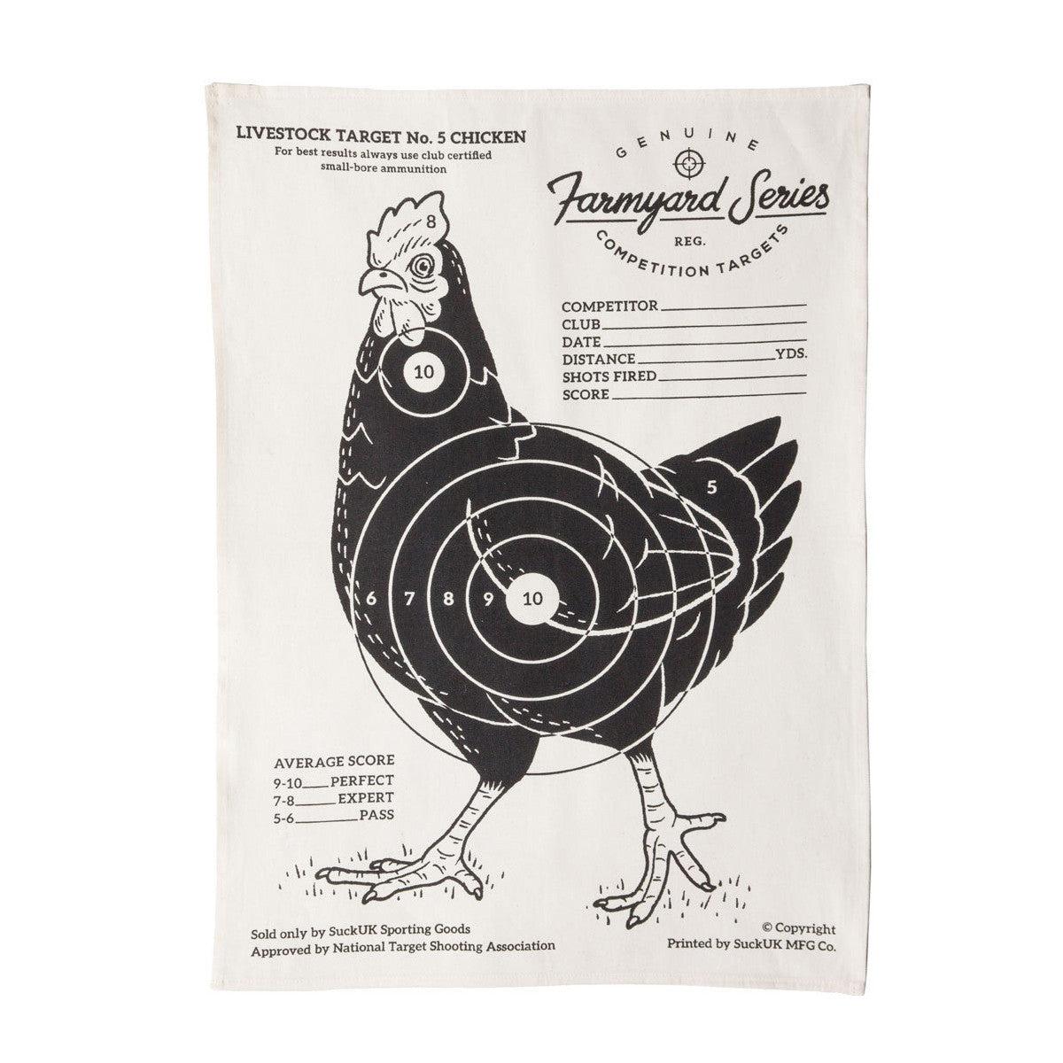 Suck UK Tea Towel Targets
