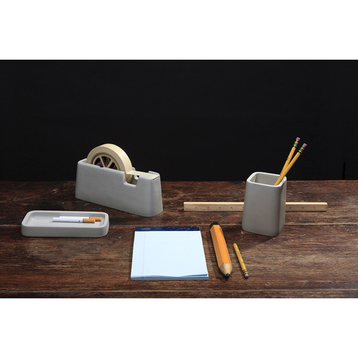 Areaware Concrete Desk Set Grey