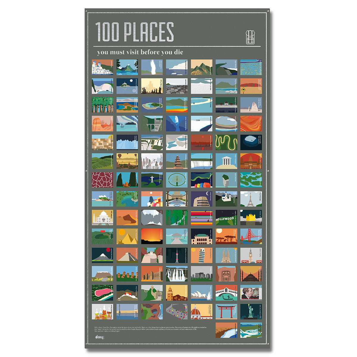DOIY 100 Places You Must Visit Before You Die Poster