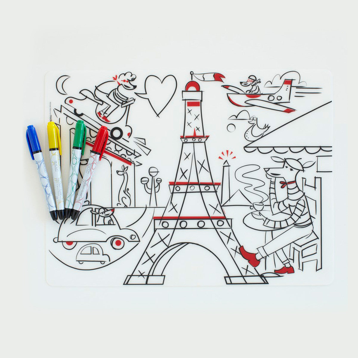 Modern Twist Mark Mat Placemat With Markers