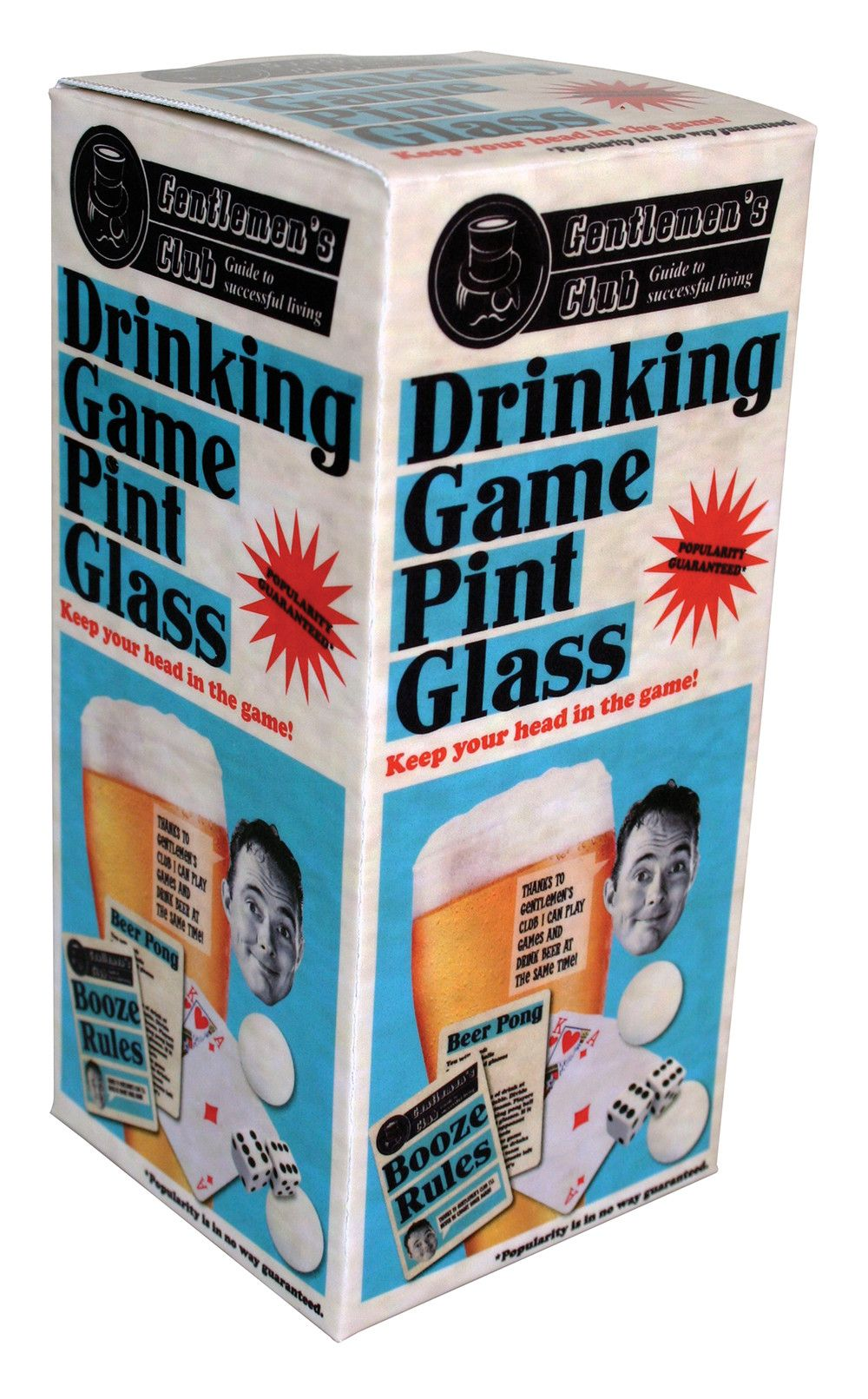 Drinking Game Pint Glass - Australian Gifts Online - 1