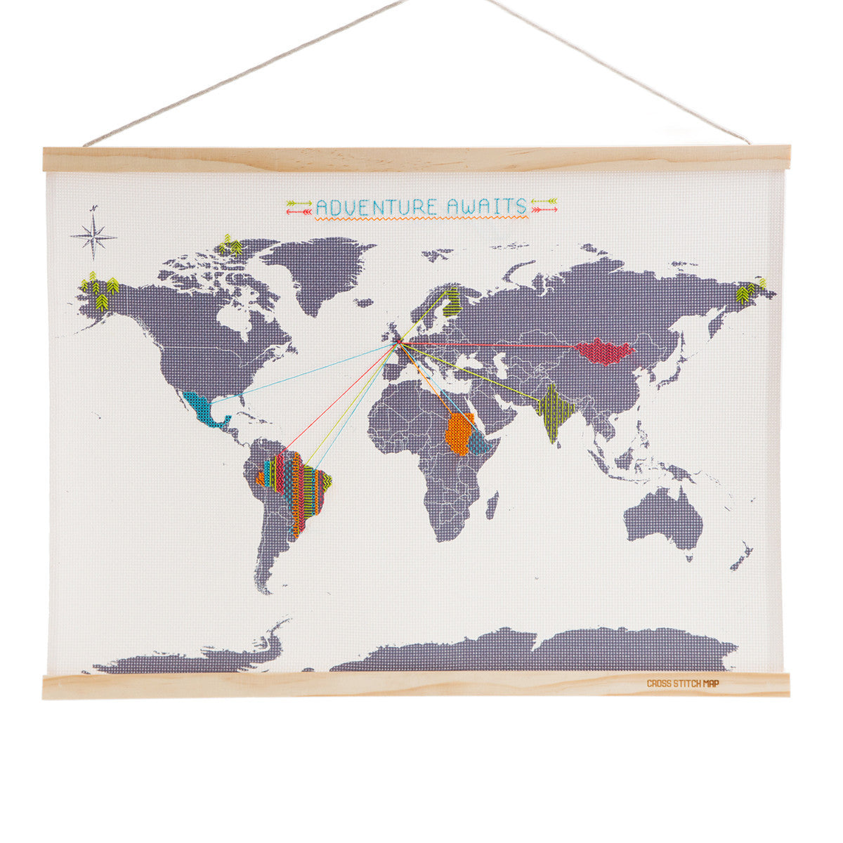 Suck UK Cross Stitch Map