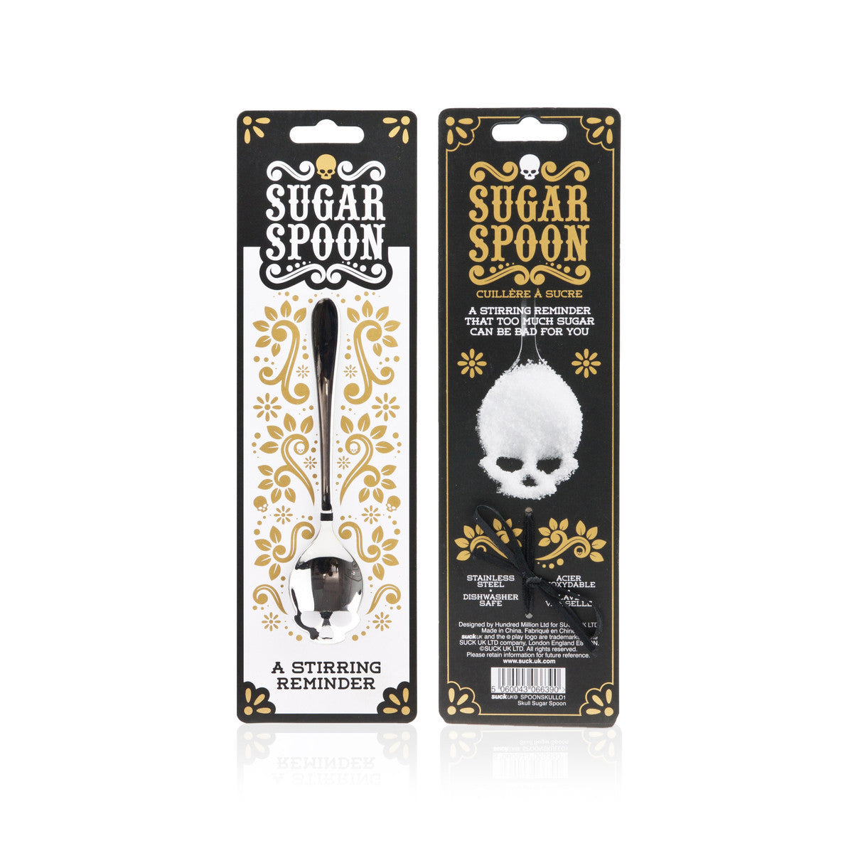 Suck UK Skull Sugar Spoon Silver