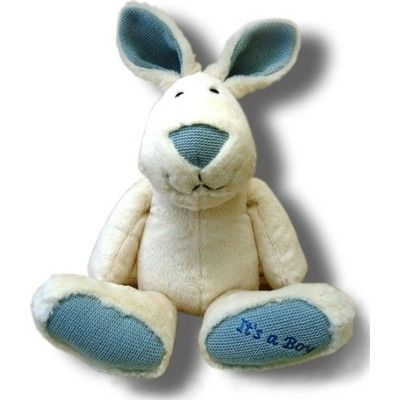 Its a Boy! Cuddly Rabbit by Joyce Toys - Australian Gifts Online