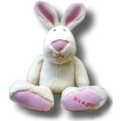 Its a Girl! Cuddly Rabbit by Joyce Toys - Australian Gifts Online