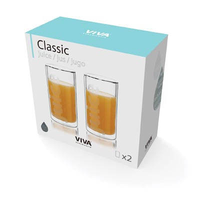 Viva Double Wall Juice Glasses - (Set of 2) - Australian Gifts Online - 2