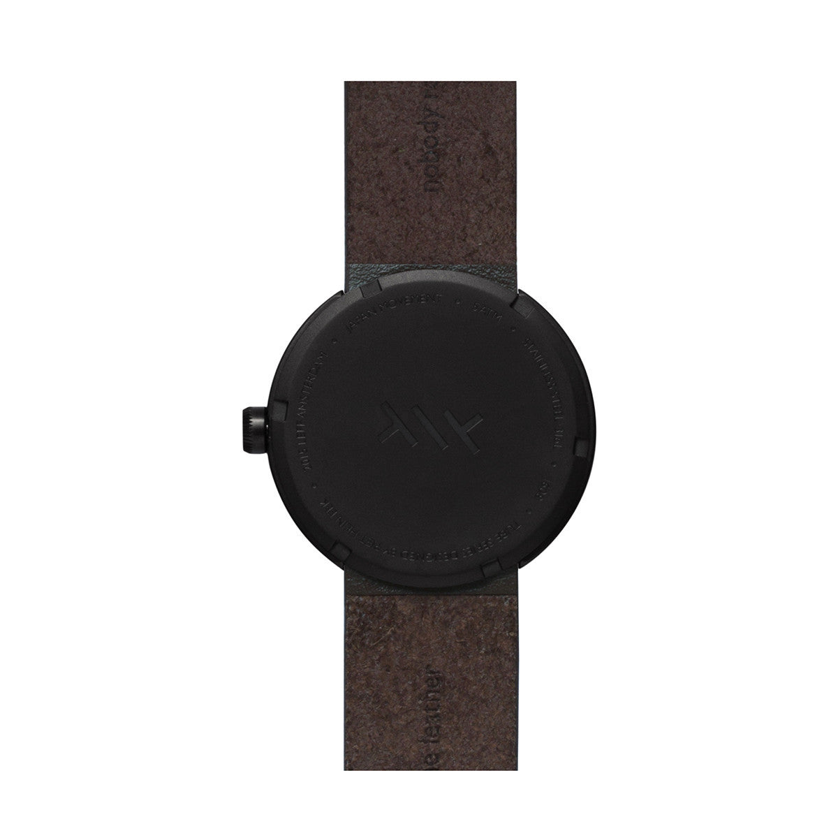 LEFF Amsterdam Tube Watch D38 With Brown Leather Strap